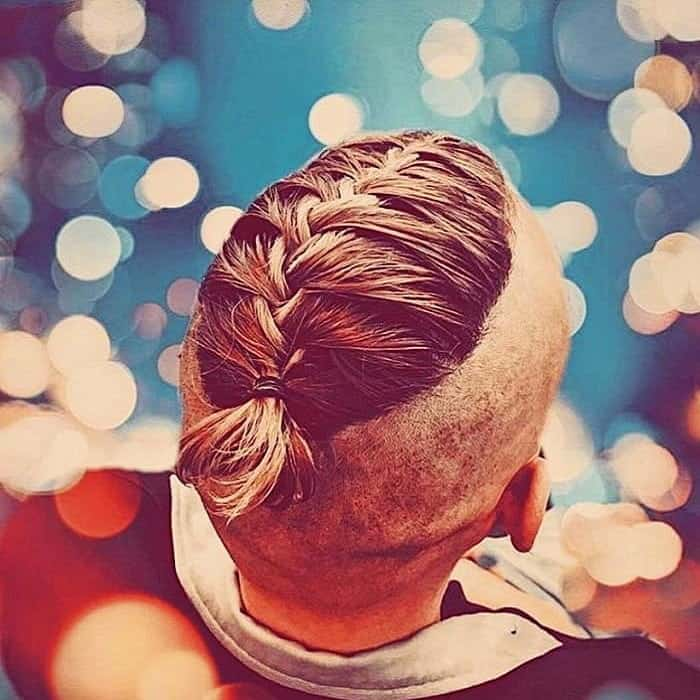 french viking braided hairstyle for men