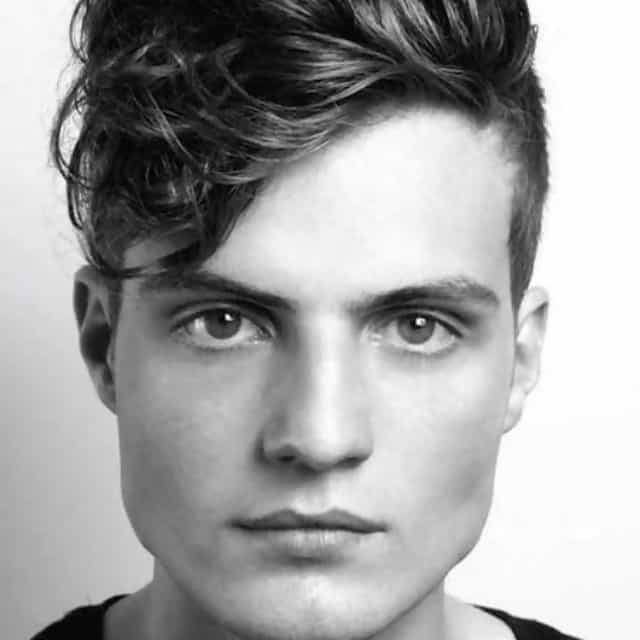 wavy hair with short sides for men