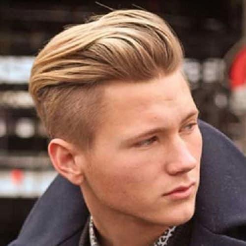 white boy's undercut style