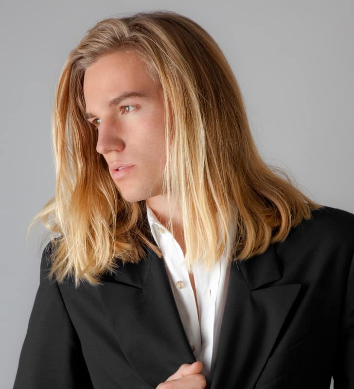 white boy with long hair