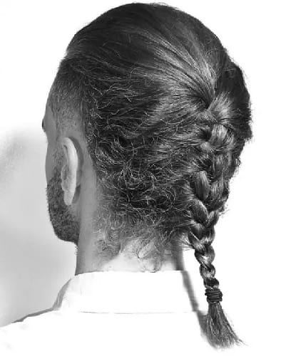 single braid for white men