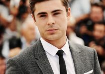 Zac Efron slicked back hairstyle
