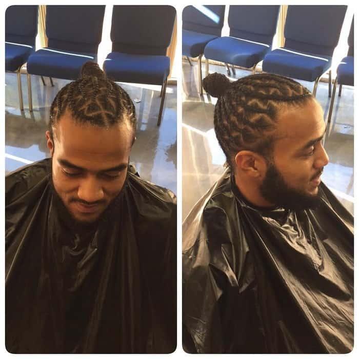 corn row style zig zag braids for men