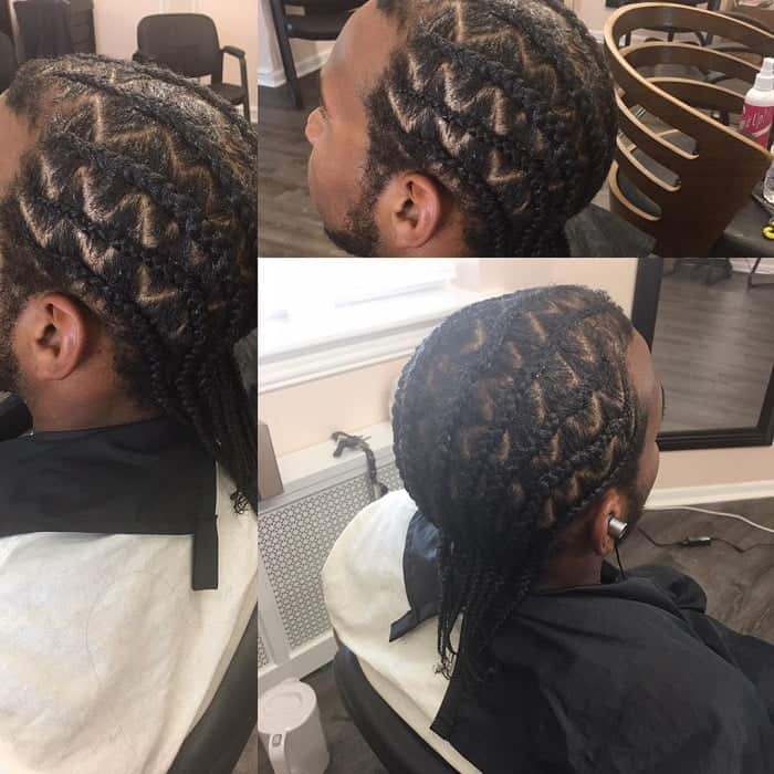 Coolest Zig Zag Cornrows To Flaunt Your Creativity Cool