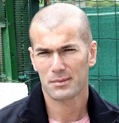 Zinedine Zidane bald hairstyle